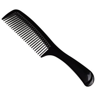Расческа гребень для волос ЮниLook, 22х5 см, черный