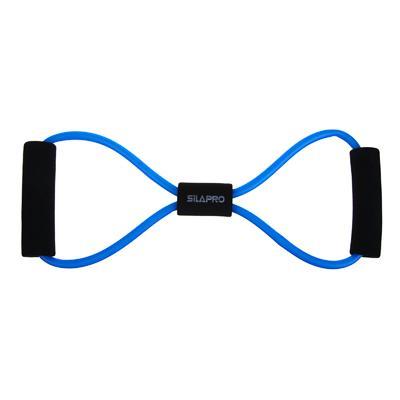 Эспандер для укрепления мышц груди и плечевого пояса, одинарный, 36 см, латекс, ПЭТ, восьмерка, SILA