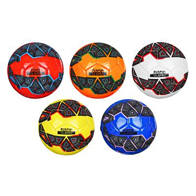 Мяч футбольный, 2 сл, размер 2, 15 см, PVC, 5 цветов,