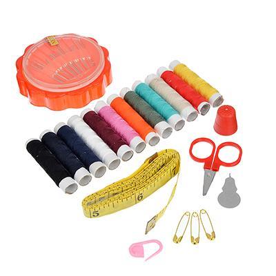 Набор для шитья (нитки, иголки, ножницы, сантиметр и т.д.) 8,5х6см, НС-013
