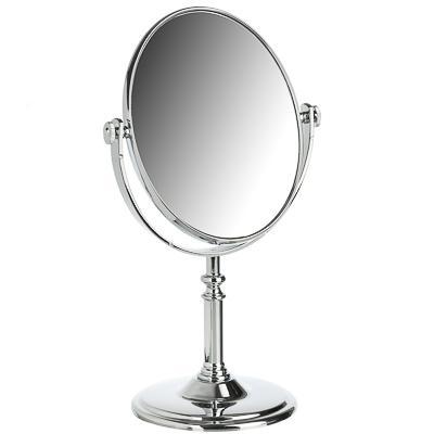 Зеркало настольное круглое ЮниLook, 17,5х29х10 см, серебро