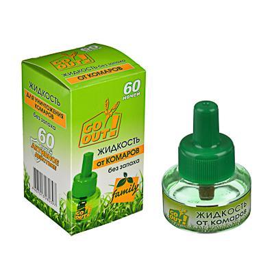Жидкость от комаров GO OUT, 60 ночей, 30мл, без запаха
