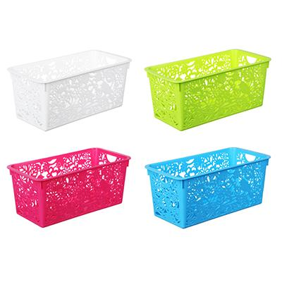 Корзина-подставка, пластик, 29,5х15х12 см, 4 цвета