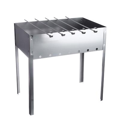 Мангал сборный с шампурами, 40x25x40 см, сталь 0,5 мм,