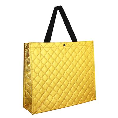 VETTA Сумка хозяйственная трехслойная, полиэстер, 34х40х12,5см, золотая