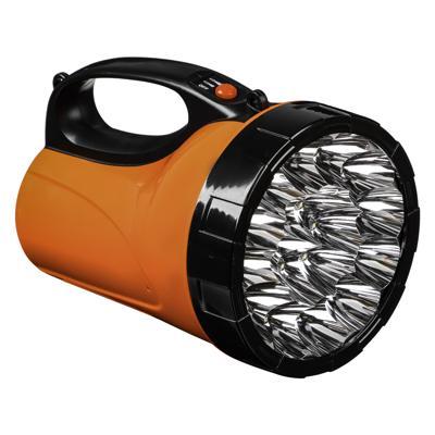 ЧИНГИСХАН Фонарь прожектор 18 ярк. LED, 3xАА / вилка 220В, пластик, 17x11 см