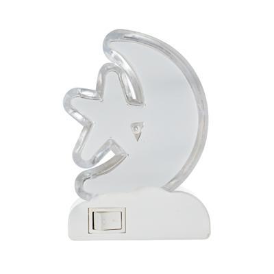 Светильник-ночник 4 LED в розетку, 5,5х8,5х6 см, 0,5 Вт, пластик,