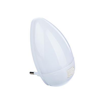 Светильник-ночник 3 LED в розетку с выключателем, 5х9х6,5 см, 220В, 0,1 Вт,