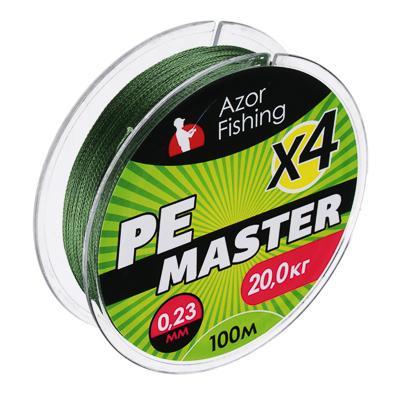 Леска плетеная AZOR FISHING PE Мастер, 0,23мм, 100м, 20кг, зеленая