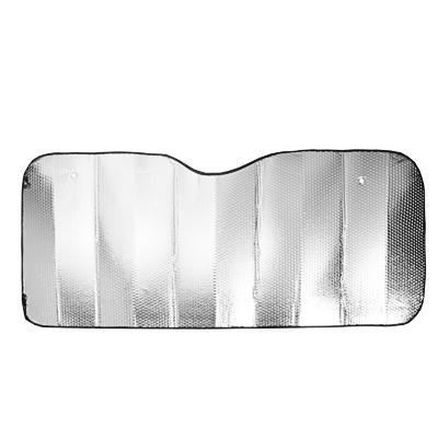 NG Шторка солнцезащитная на лобовое стекло, 130х60см, серебристая, 110035L