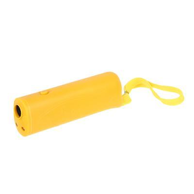 INBLOOM BY Отпугиватель собак ультразвуковой с фонарем, радиус 10м, 13х4х2,5см, 1х9В/9V в компл