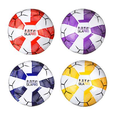 Мяч футбольный 2 сл, размер 5, 22 см, PU, 4 цвета, арт. 510