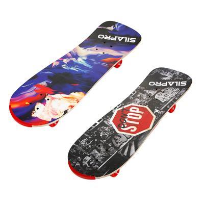 Скейтборд, 75х25 см, Р304, усилен. алюм. крепеж, 5240 PVC 608Z, макс.нагрузка 50 кг, SILAPRO