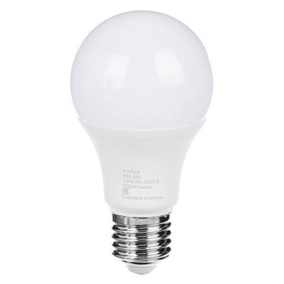Лампа светодиодная FORZA A60, 12W, E27, 1050lm, 3000К