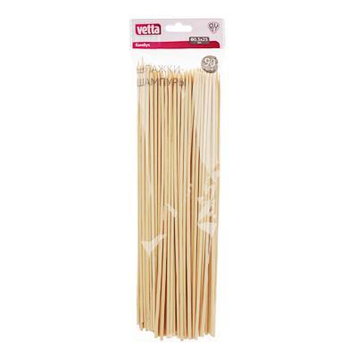 Шпажки-шампуры из бамбука 90 шт, 25 см, d.3 мм, VETTA