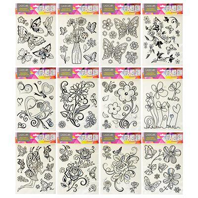 LADECOR Наклейка интерьерная, 31х20см, пластик, 12 дизайнов, арт.15-002