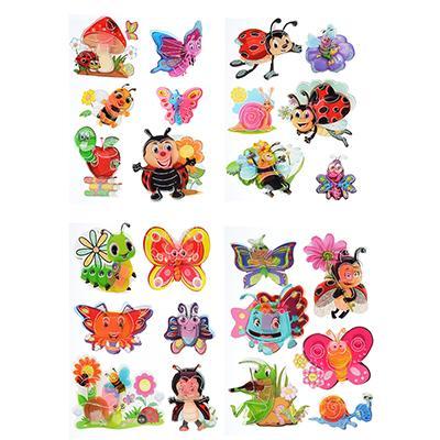 Наклейка детская 5D, пластик, бумага, 4 дизайна арт.12-04