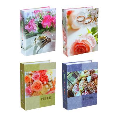 Фотоальбом на 200 фото 10х15см, 17,5х23см, бумага, пластик, 4 дизайна