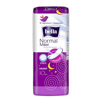 Прокладки гигиенические Bella Normal Maxi п/э 10шт, арт.10-013