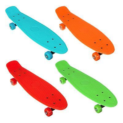 Скейтборд, 41х12 см, ABS пластик, пласт.крепеж, 5030 PVC 608Z, макс.нагрузка 30 кг, SILAPRO, 1705F