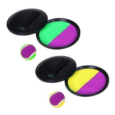 Набор поймай мяч, детский, тарелки-липучки 2 шт, мяч, пластик