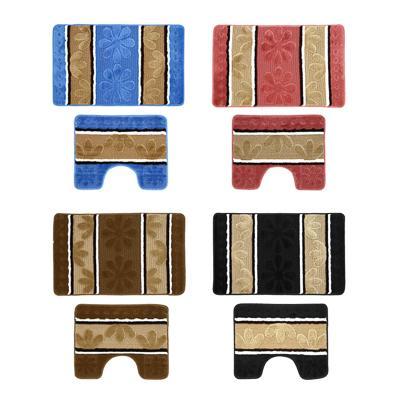 VETTA Набор ковриков для ванной и туалета, полиэстер, 50x80см + 50x40см,