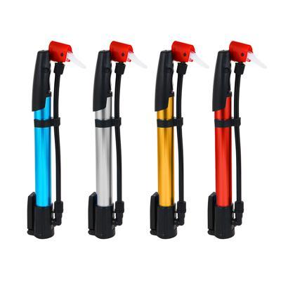 Насос велосипедный, шредер, преста, 32,5х2,7 см, пластик, металл, 4 цвета, SILAPRO