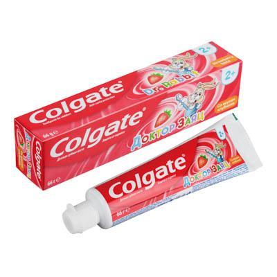 Зубная паста COLGATE Доктор Заяц вкус Клубники/Жвачки туба 50мл 188189286