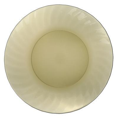 Тарелка стеклянная обеденная d. 20 см,