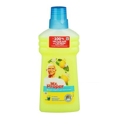 Жидкость для мытья полов и стен MR PROPER Лимон, п/б 500мл