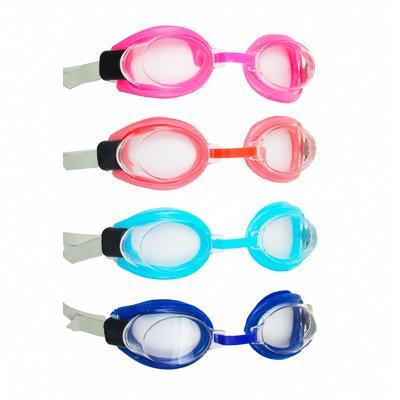 Очки детские для плавания, затычки для ушей, прищепка для носа, ПВХ, пластик, резина, 5 цветов, SILA