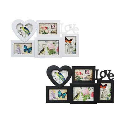 Фоторамка на 5 фотографий, пластик, 53х31см, арт.101-8, 2 цвета