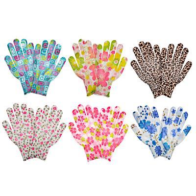 INBLOOM Перчатки садовые, полиэстер, 8 размер, 22см, 13гр, цветные