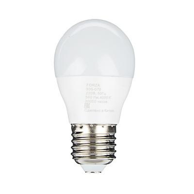 Лампа светодиодная FORZA G45, 7W, E27, 560lm, 4000К