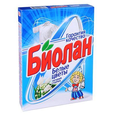Стиральный порошок Биолан Белые цветы ручная стирка к/у 350 г 715-4/750-4