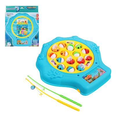 Игрушка-рыбалка на батарейках, ABS, эл.питания 2xAAA, 22х21х4см, 3 цвета