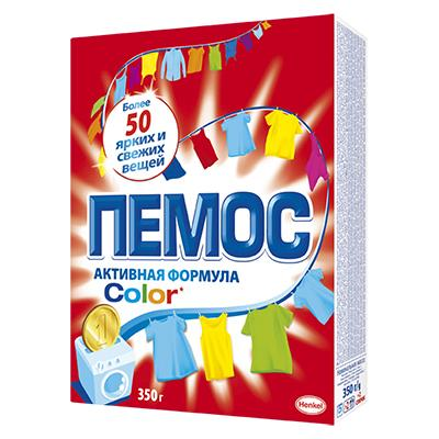 Стиральный порошок ПЕМОС Колор для цветного белья, к/у 350г