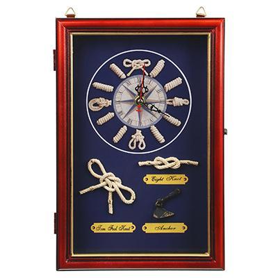 LADECOR Ключница декоративная на 6 крючков, дерево, стекло, 30х20х7см, арт.08-08