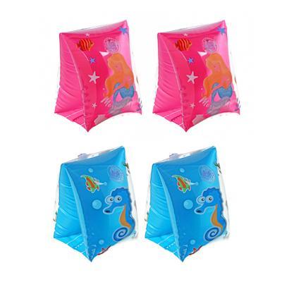 Нарукавники для плавания, 22х17 см, ПВХ, 3 цвета, 3 дизайна,