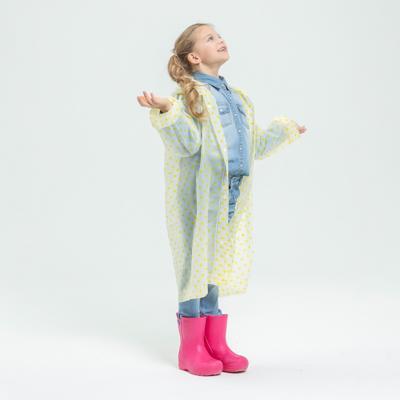 Детский дождевик-плащ в горошек, ЭВА, 100 мкр., 83х54 см, 3 цвета, INBLOOM