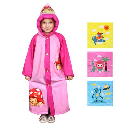 Детский дождевик-плащ, ПВХ, 100 мкр., р-р: S,M,L, INBLOOM