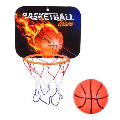 Набор для баскетбола детский SILAPRO (корзина 23х18см, мяч), пластик, ПВХ