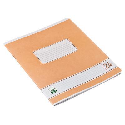Тетрадь 24 листов в клетку, офсет, скрепка,