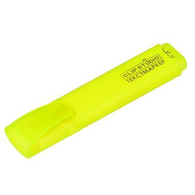 Маркер-выделитель желтый, скошенный наконечник, линия 4мм