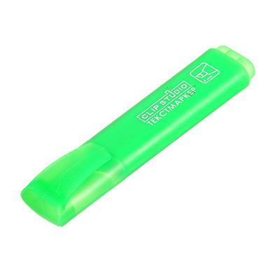 Маркер-выделитель зеленый, скошенный наконечник, линия 4мм