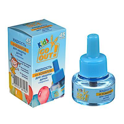 Жидкость от комаров GO OUT детская 45 ночей, 30мл, без запаха