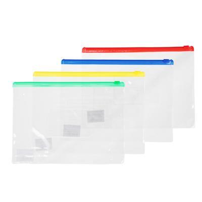 Папка-конверт на молнии А5, прозрачная