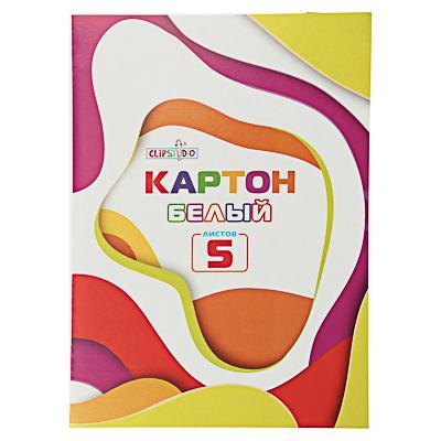 Набор белого картона А4 ClipStudio, 5листов