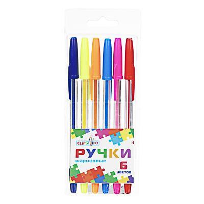 Набор ручек шариковых ClipStudio 0,7 мм, 6 цветов