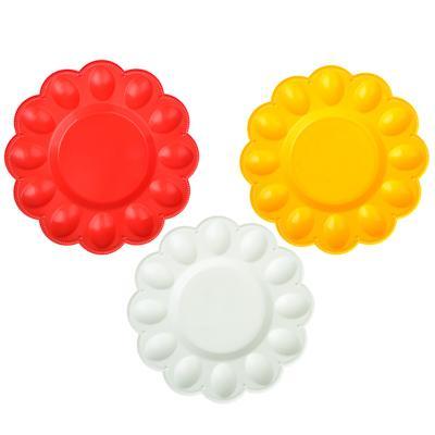 Блюдо пасхальное для яиц и кулича, пластик, д23см, 3 цвета
